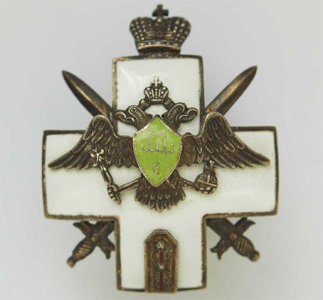 Russian Imperial Badge, School 6 of infantry Ensigns,