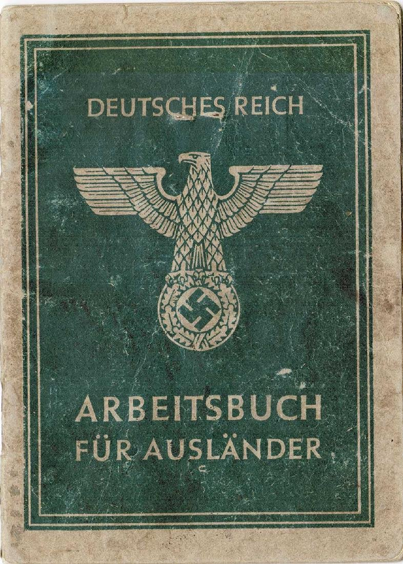 German WW2 Arbeitsbuch for Ukrainian worker