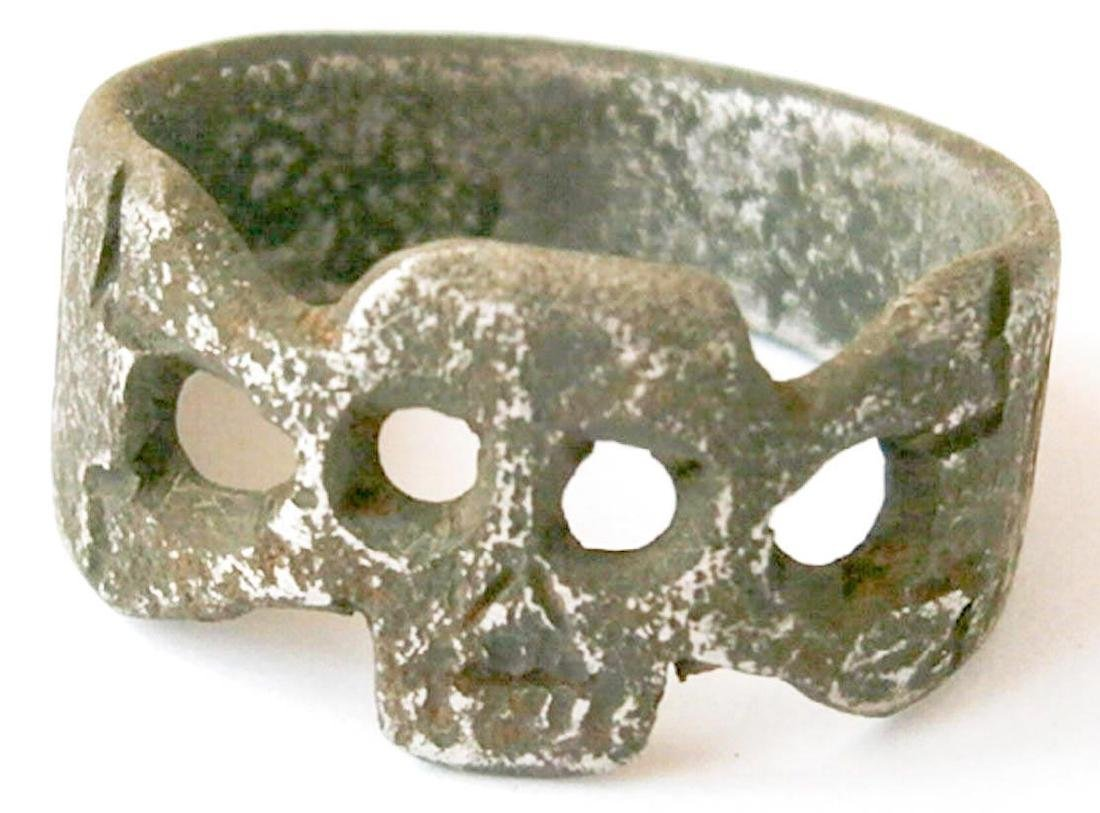 German WW1 Ring w. Skull & Bones, Trench Art 1915