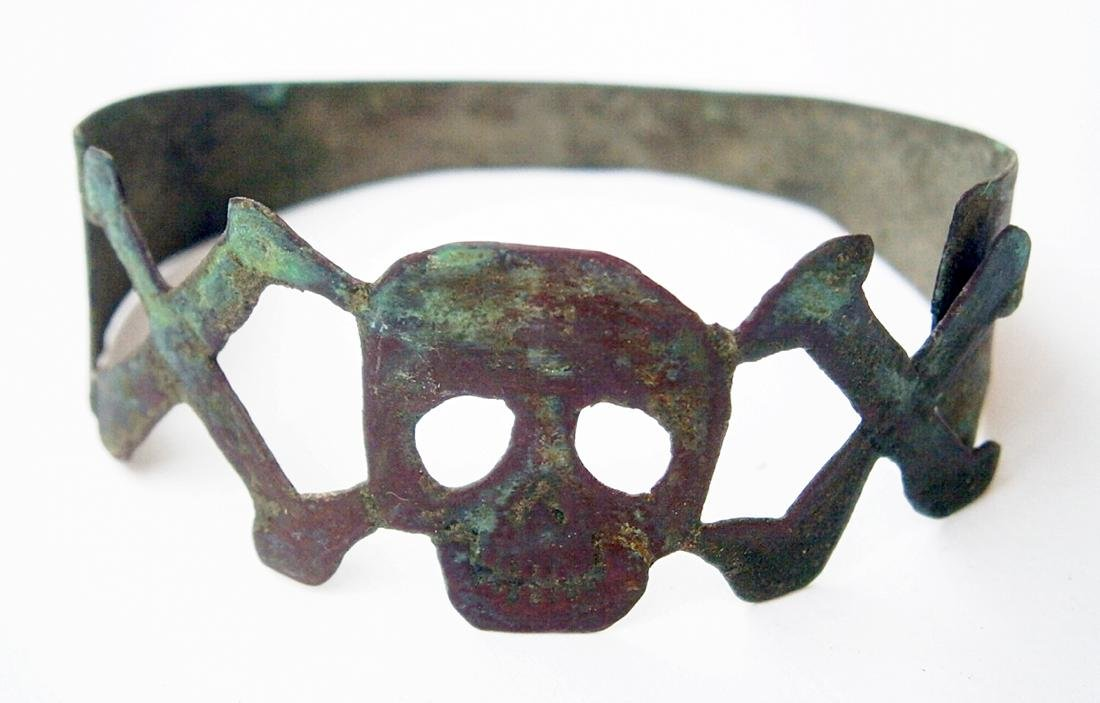 German WW2 Napkin RING w. Skull & Bones, Trench Art