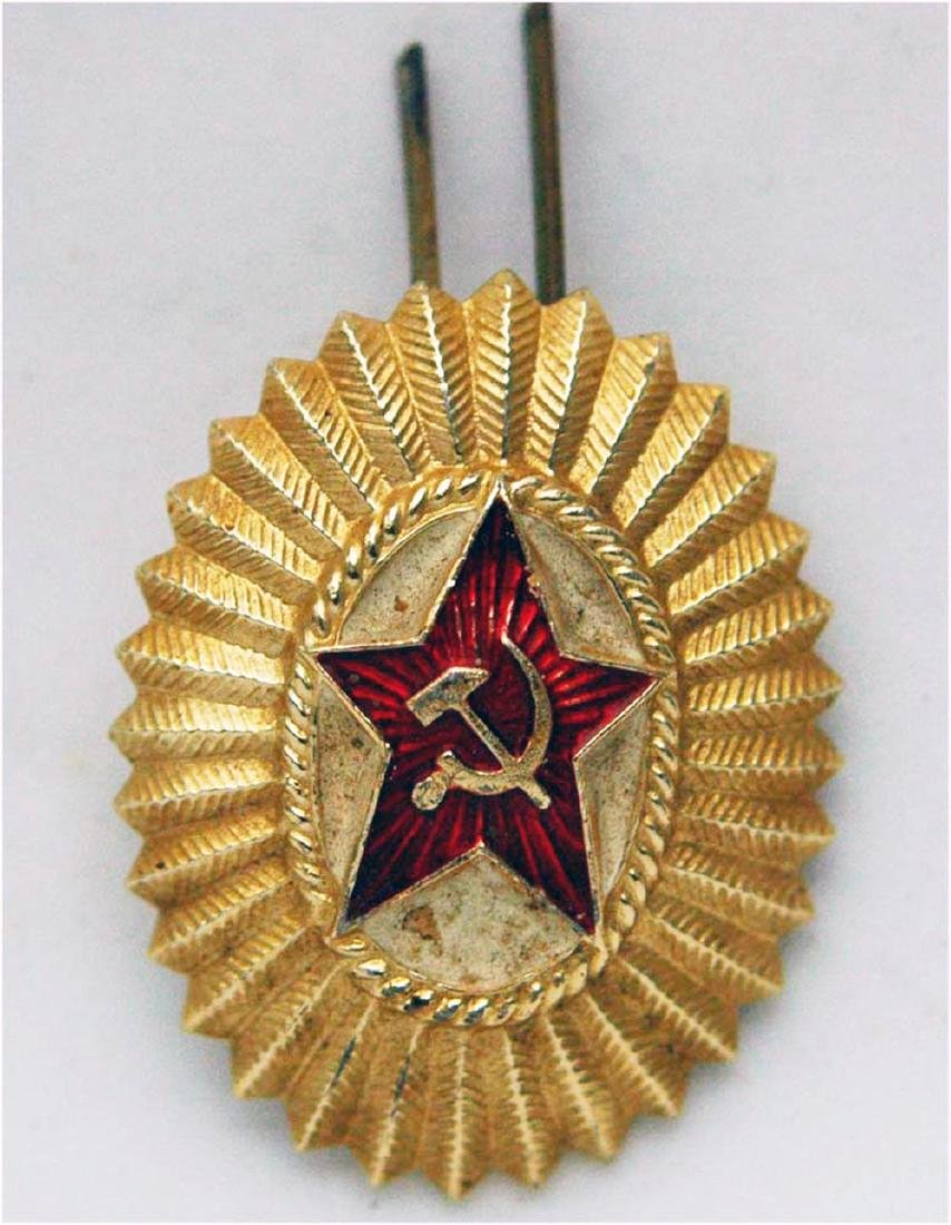 RUSSIAN USSR HAT BADGE COCKADE for Officer, 1970x