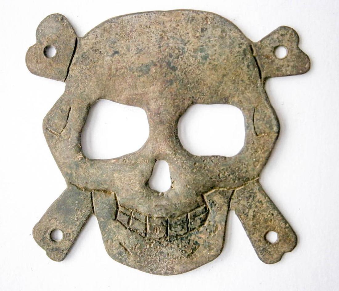 Original German WW2 Badge with Skull and Bones