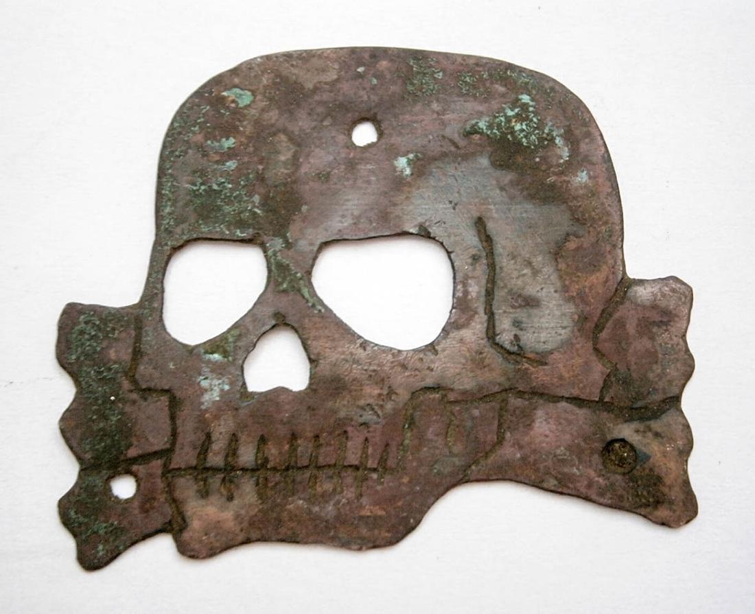 Original German WW2 COCARDE w. Skull and Bones