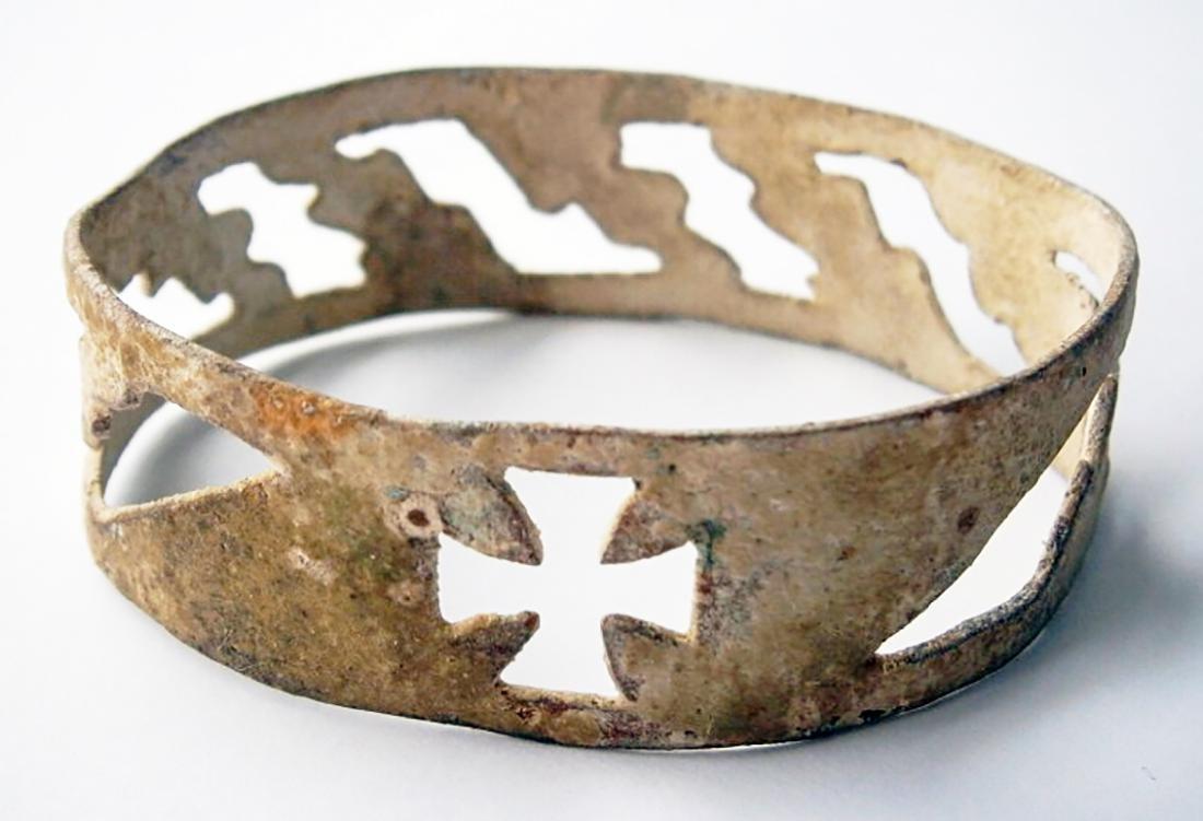German WW2 Bracelet w. IRON CROSS, SAMBOR