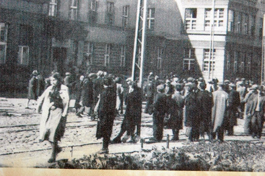 Polish WW2 Postcard of Litzmannstadt Ghetto, 1941