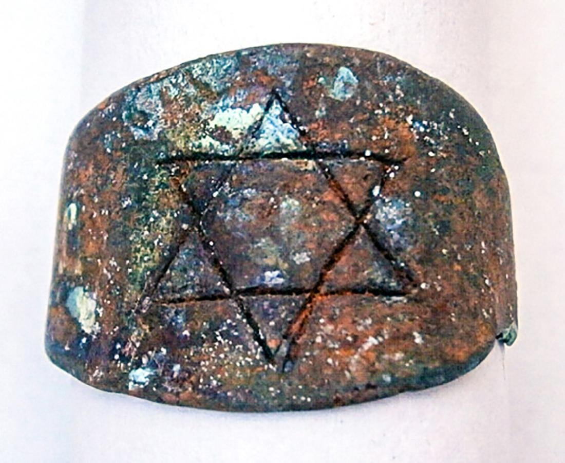 Original Jewish WW2 RING w. Star of David, 1941