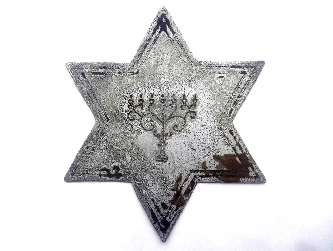 Jewish WW2 Star of David w. Menorah, Lemberg Lviv, 1941