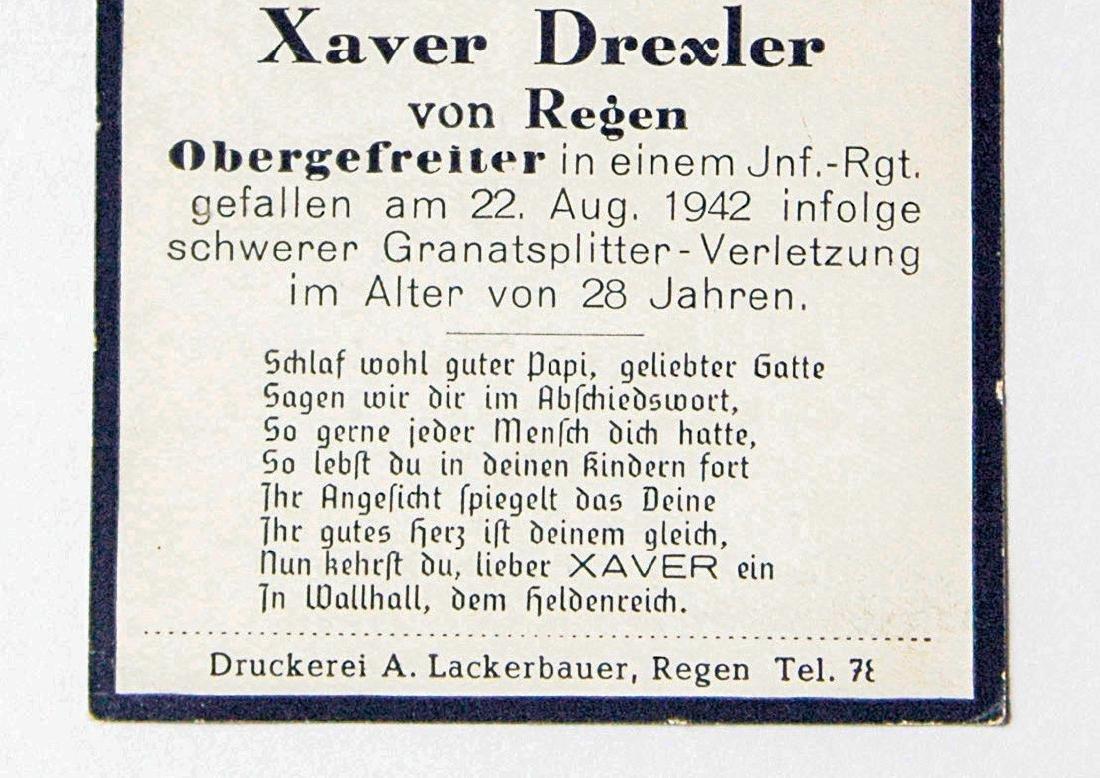 German WW2 Military Deaf Certificate, 1942 - 3
