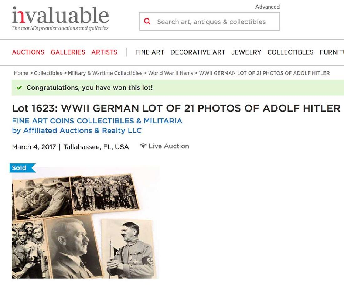 German WWII Photo of Adolf Hitler w. Paratroopers, - 8