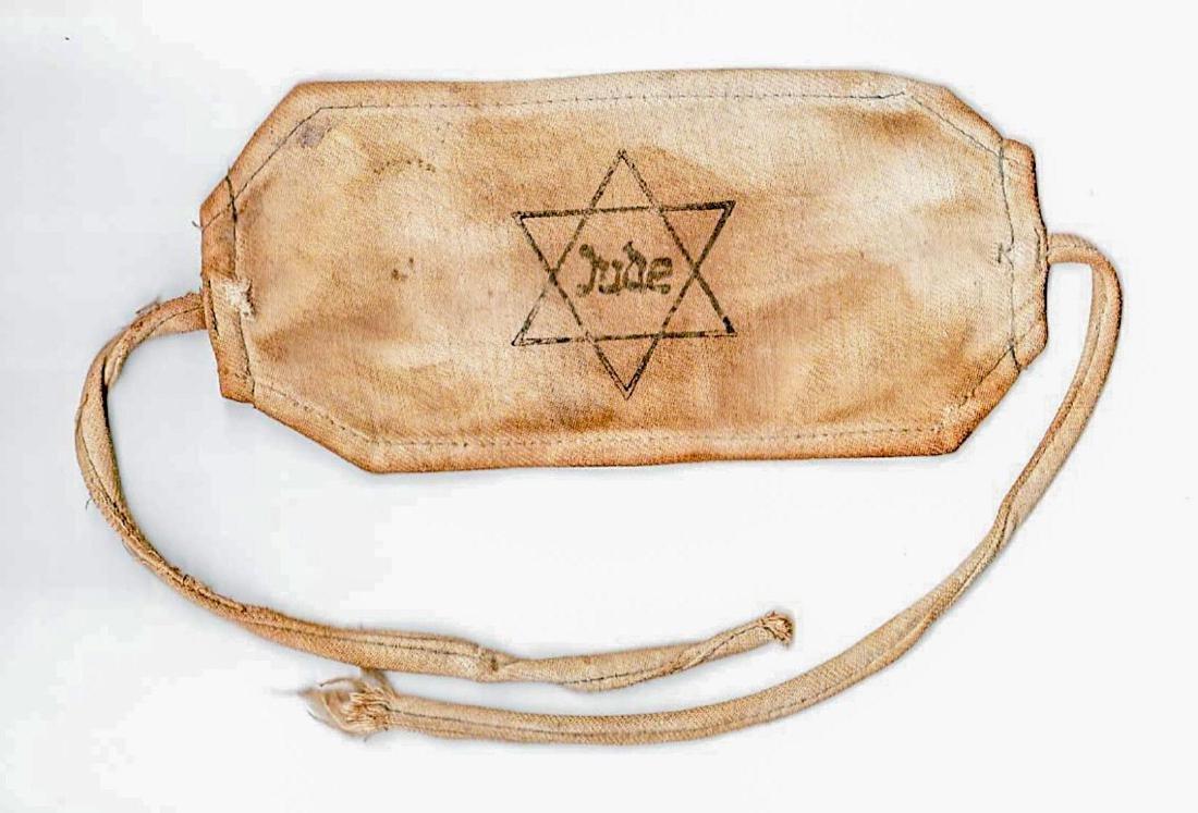 Jewish WW2 ARMBAND JUDE from Litzmannstadt - 2