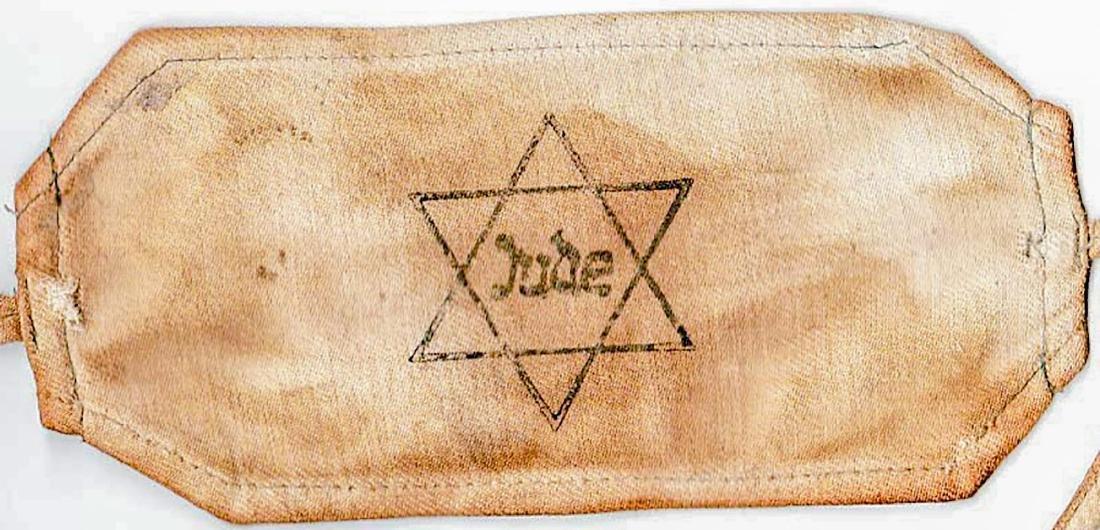 Jewish WW2 ARMBAND JUDE from Litzmannstadt - 3