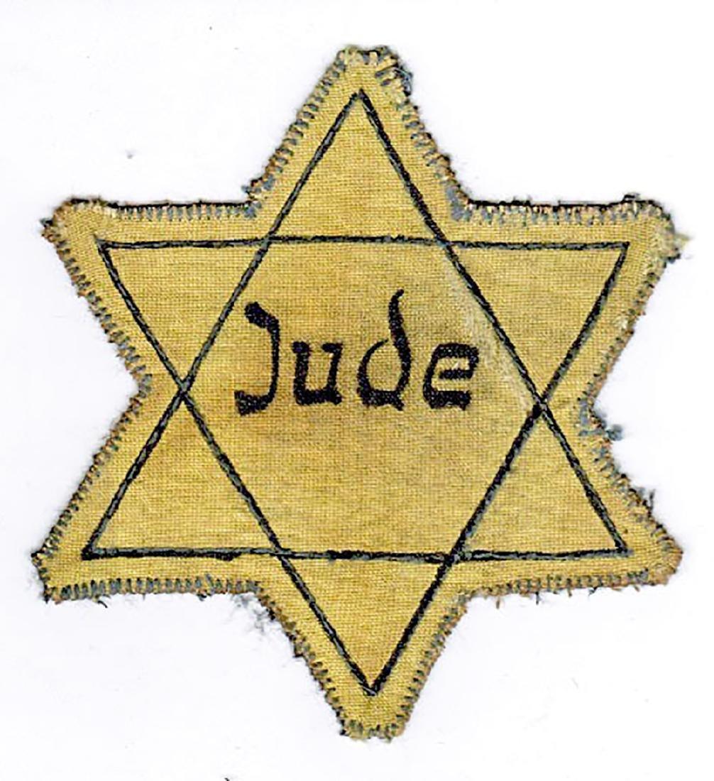 Jewish WW2 Yellow Star of David JUDE fr. Litzmannstadt