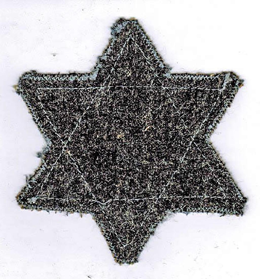 Jewish WW2 Yellow Star of David JUDE fr. Litzmannstadt - 2