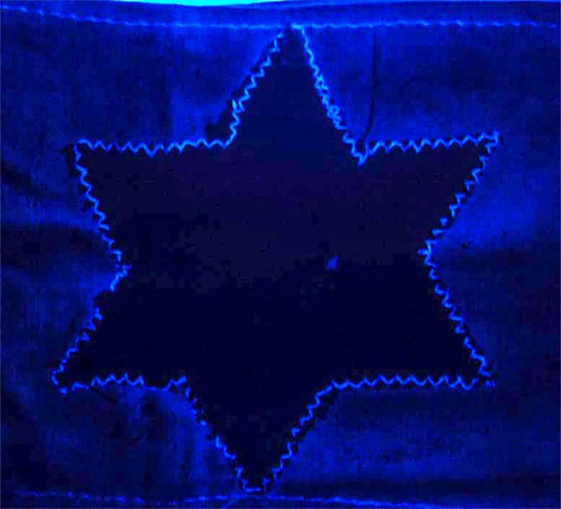 Jewish WW2 Yellow Star of David JUDE fr. Litzmannstadt - 4
