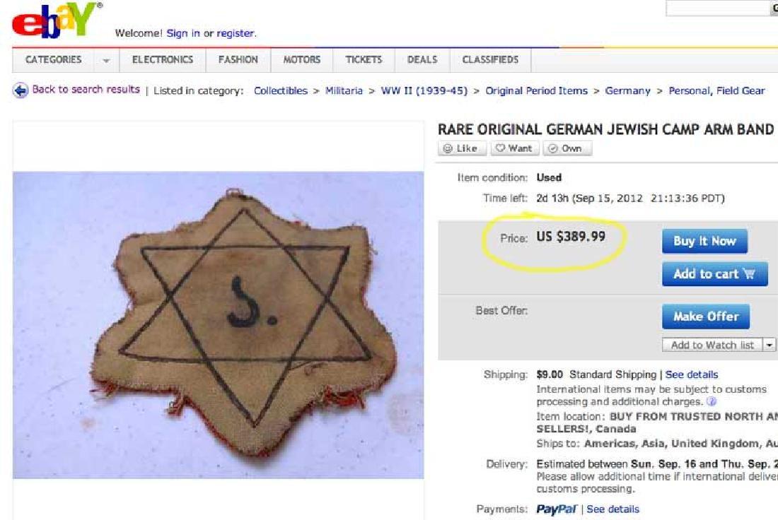 Jewish WW2 Yellow Star of David JUDE fr. Litzmannstadt - 5