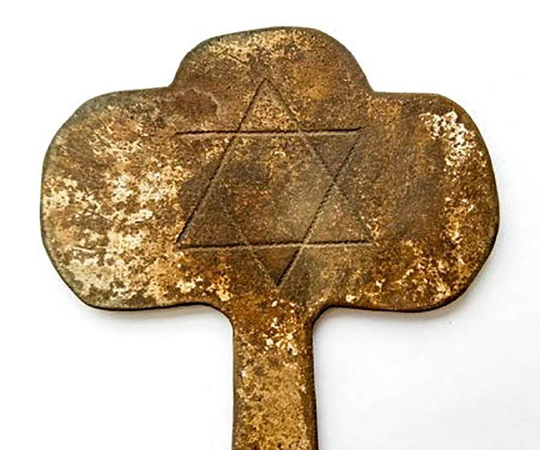 Jewish WW2 JUDAICA Shield KEY to Zion fr. Litzmannstadt - 8