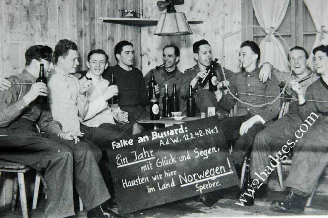 German WW2 Photo of German Soldiers in Norwegen, 1942