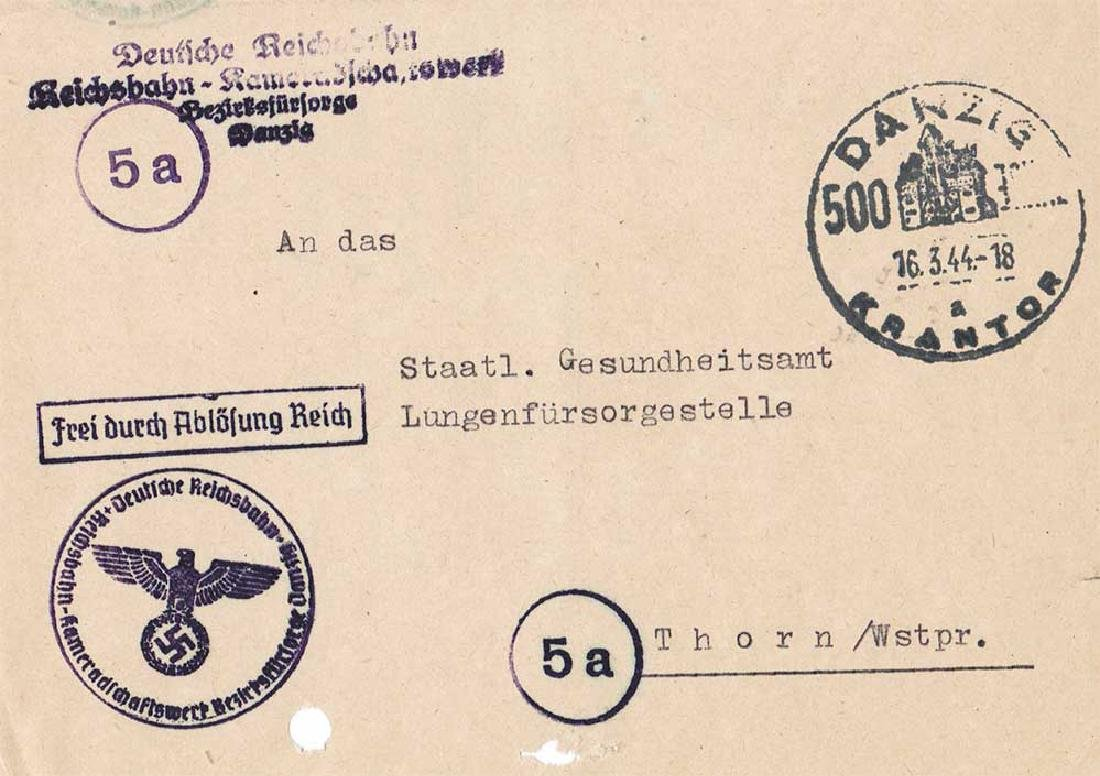 German WW2 Document, Tuberculosis Care, 1944 - 7