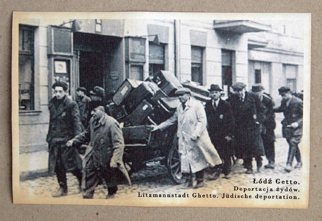 Jewish WW2 Postcard fr. LITZMANNSDADT - Jewish Ghetto - 2