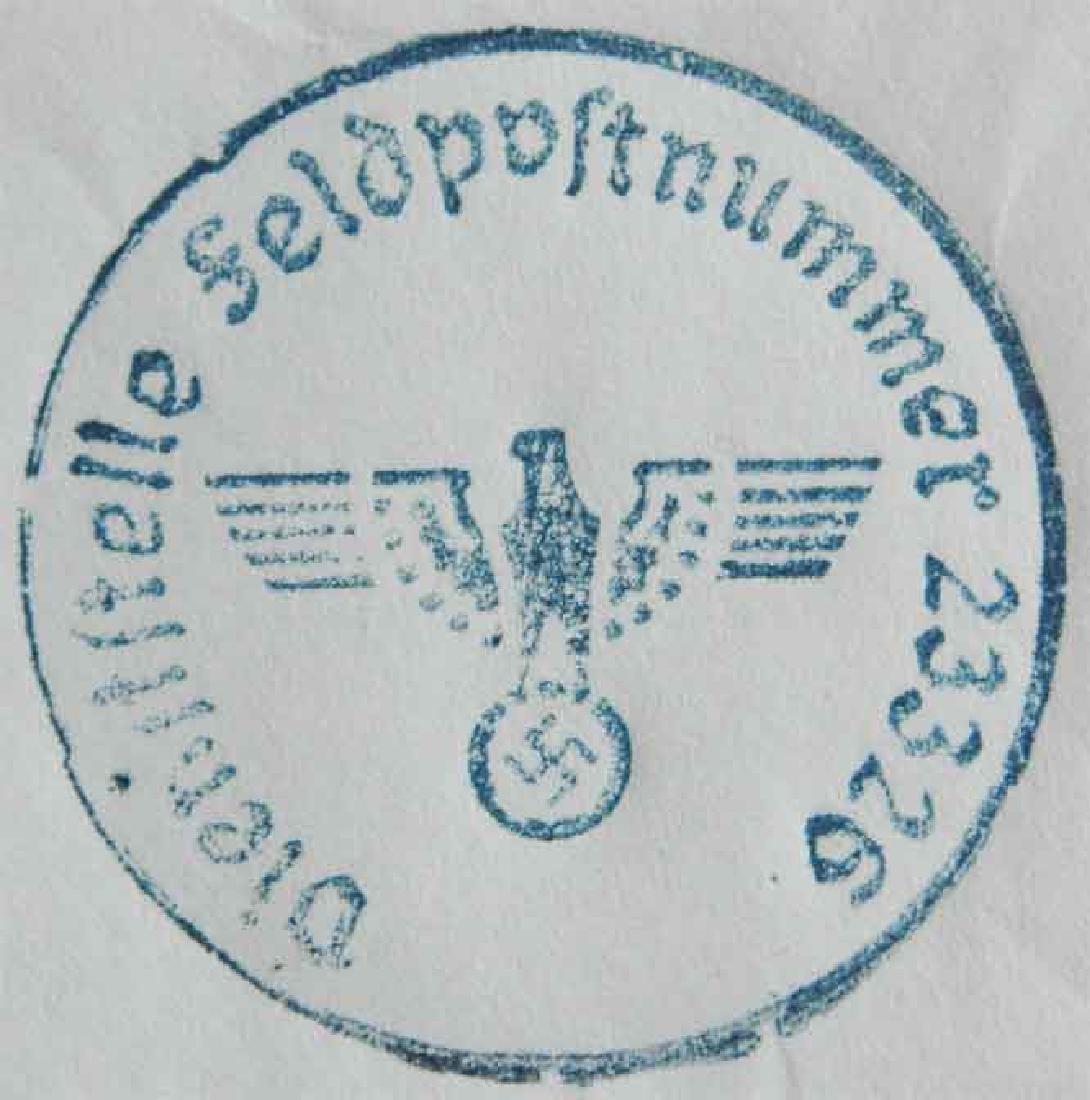 Rare German WW2 FeldPost Stamp Ink