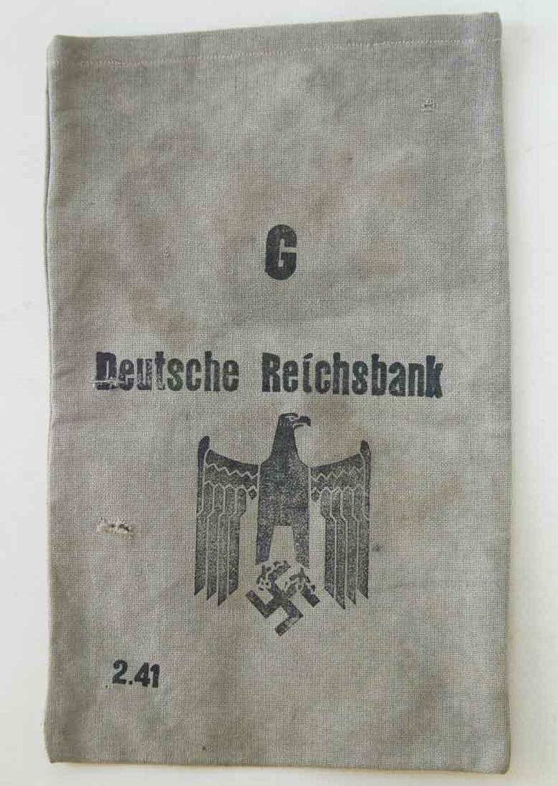 German WW2 Deutsche Reichsbank Bag, BUCHENWALD