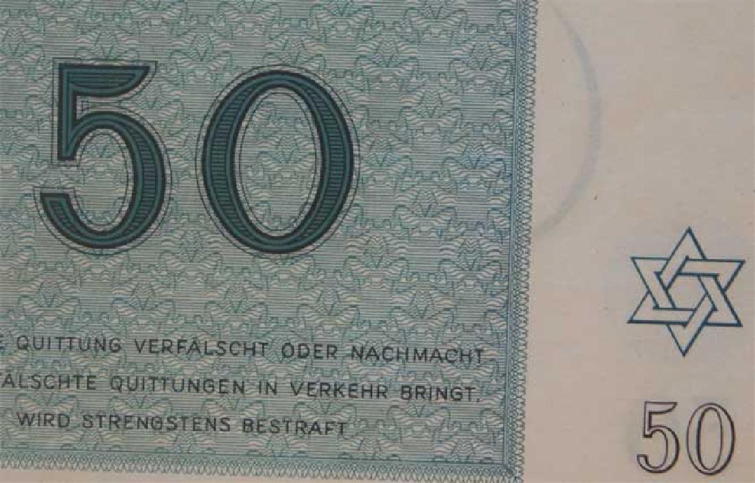 Rare WW2 50 Kronen Note fr. Theresienstadt KZ KL - 2