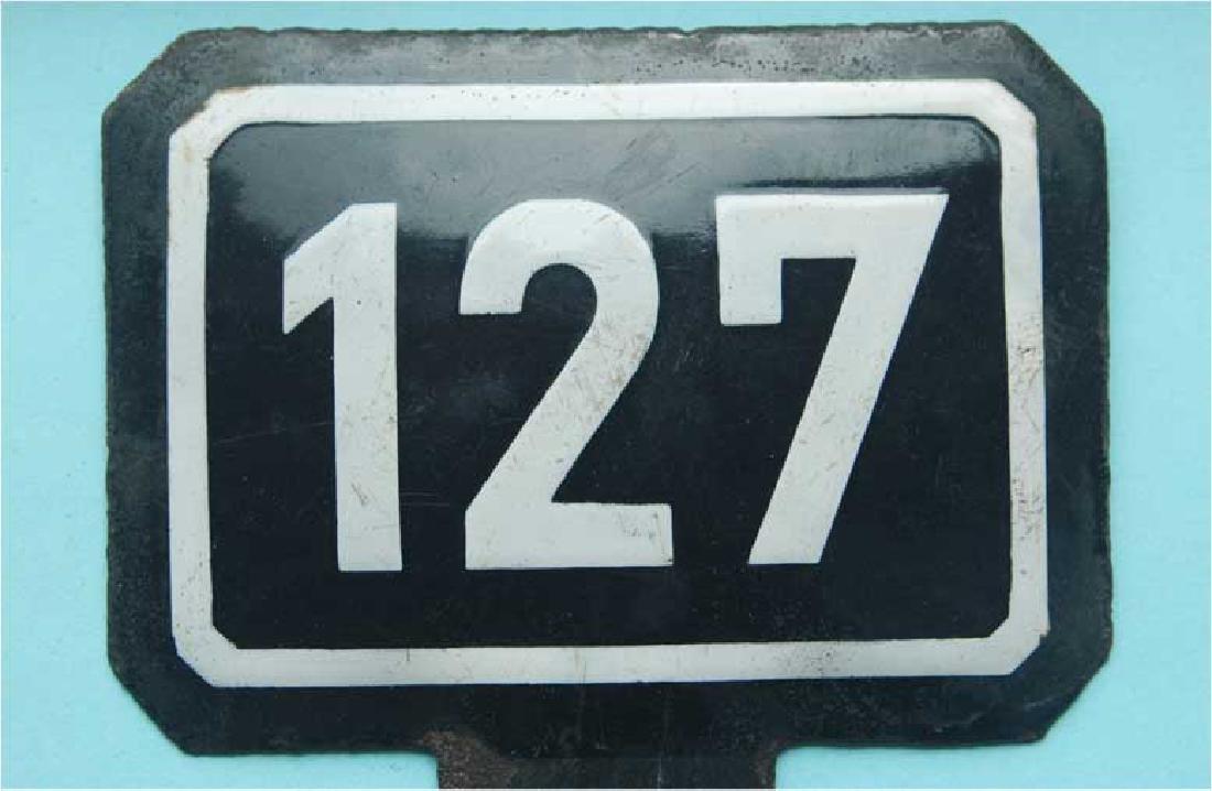 WW2 Enamel Sign for Railway Track, Buchenwald KZ - 6
