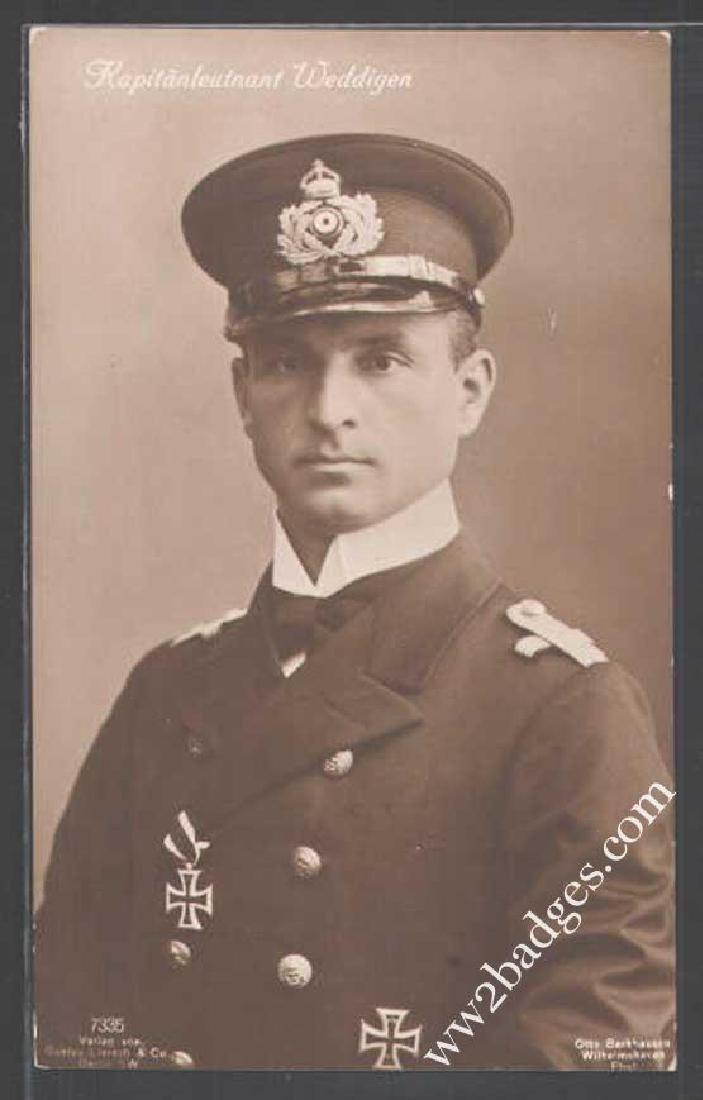 German WW1 U-BOAT U-9 HERO Captain Weddigen