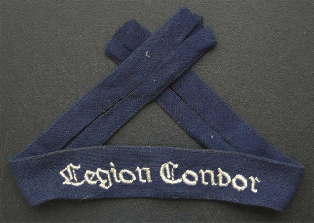 German WW2 Luftwaffe Legion Condor Cuff Title KG 53, - 2