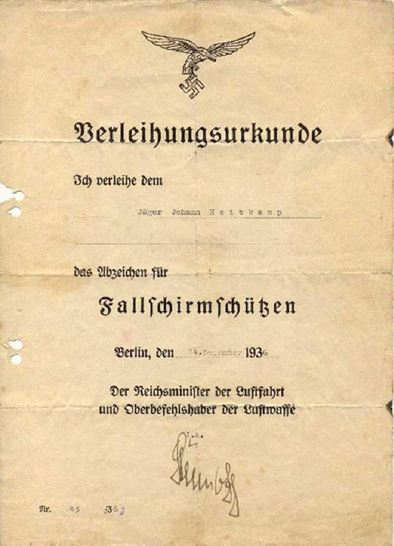 German WW2 Army Para Badge, - 9