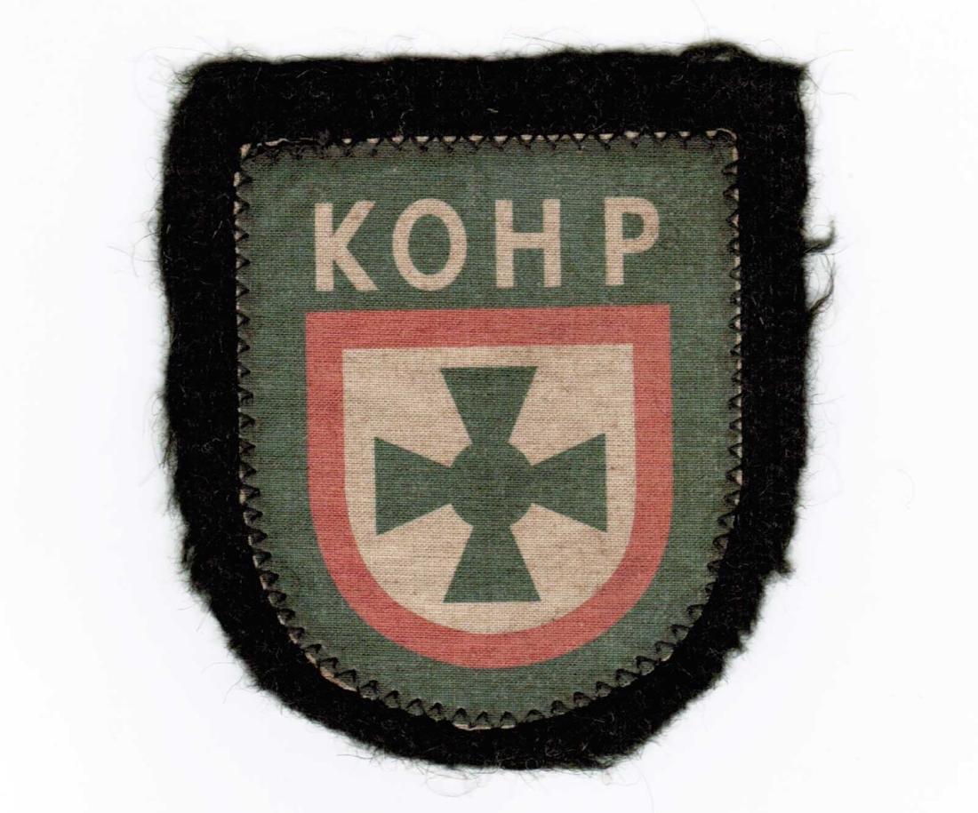 GERMAN WW2 SLEEVE PATCH KOHP, RUSSIAN VOLUNTEERS