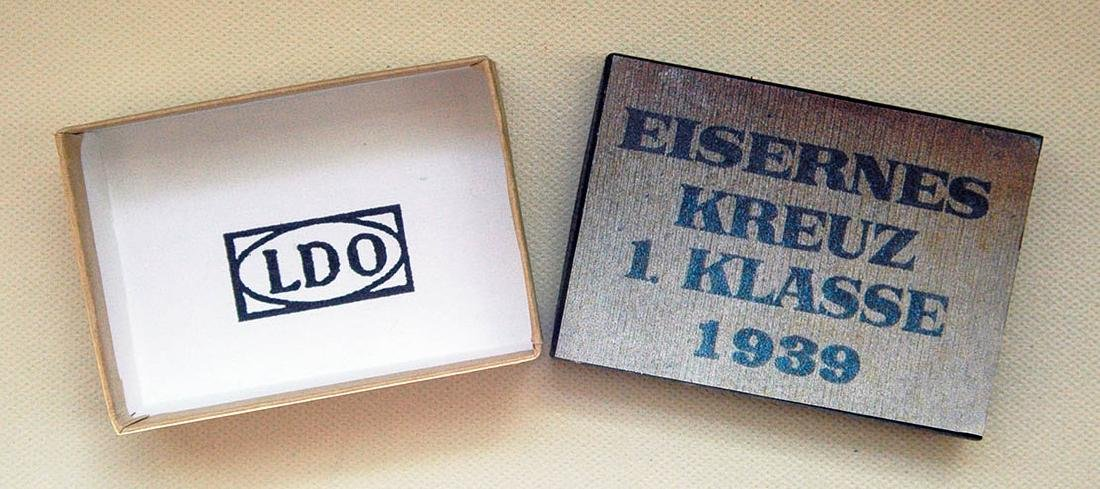 German WW2 LDO Box Etui for Iron Cross 1st Class - 10