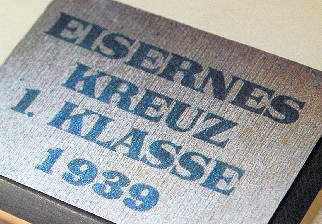 German WW2 LDO Box Etui for Iron Cross 1st Class - 9