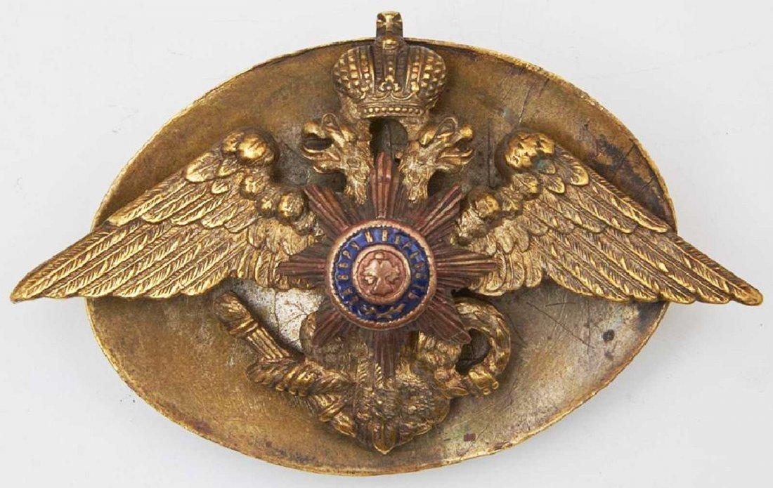 Russian Imperial Badge Nikolaev Cavalry School, 1916