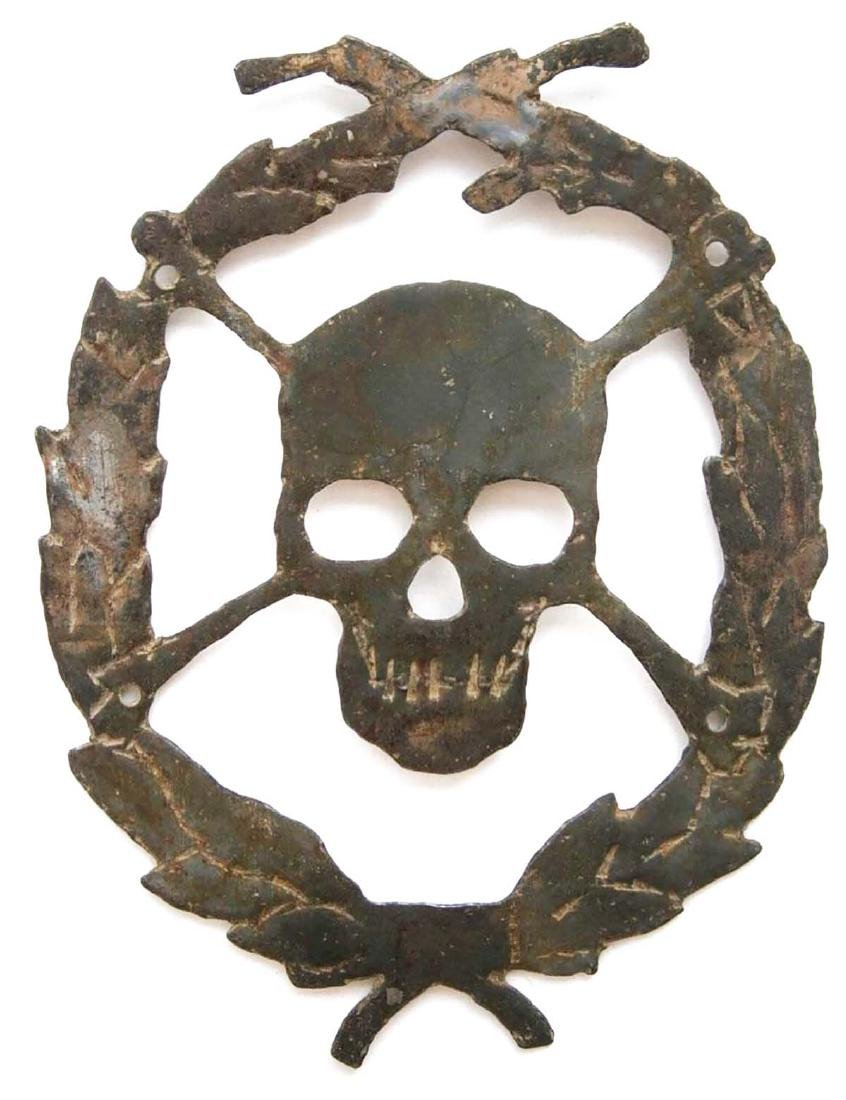 Original German WW2 Skull & Bones for Helmet, 1941-1945