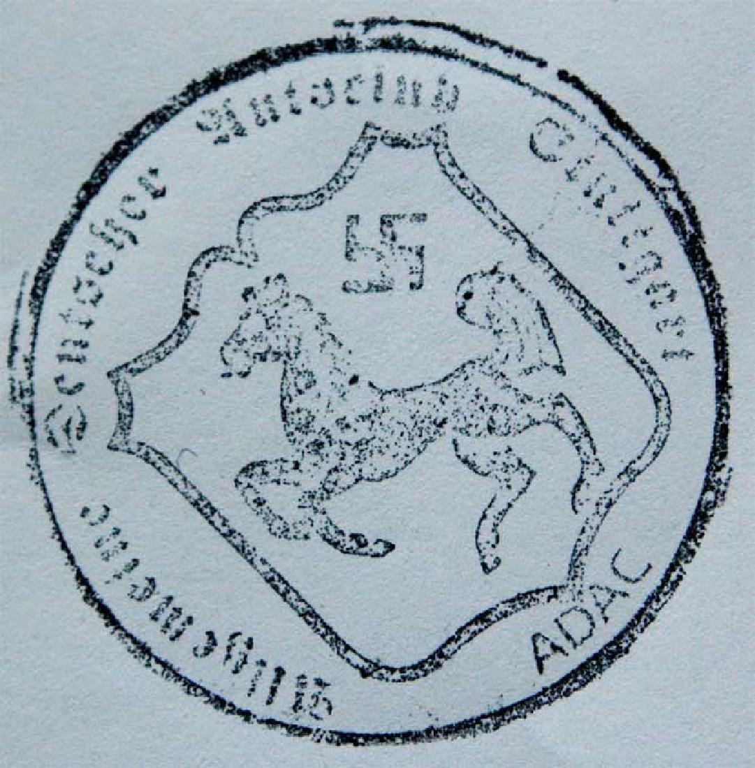 German WW2 ADAC Stuttgart WINNER Ink Stamp - 2