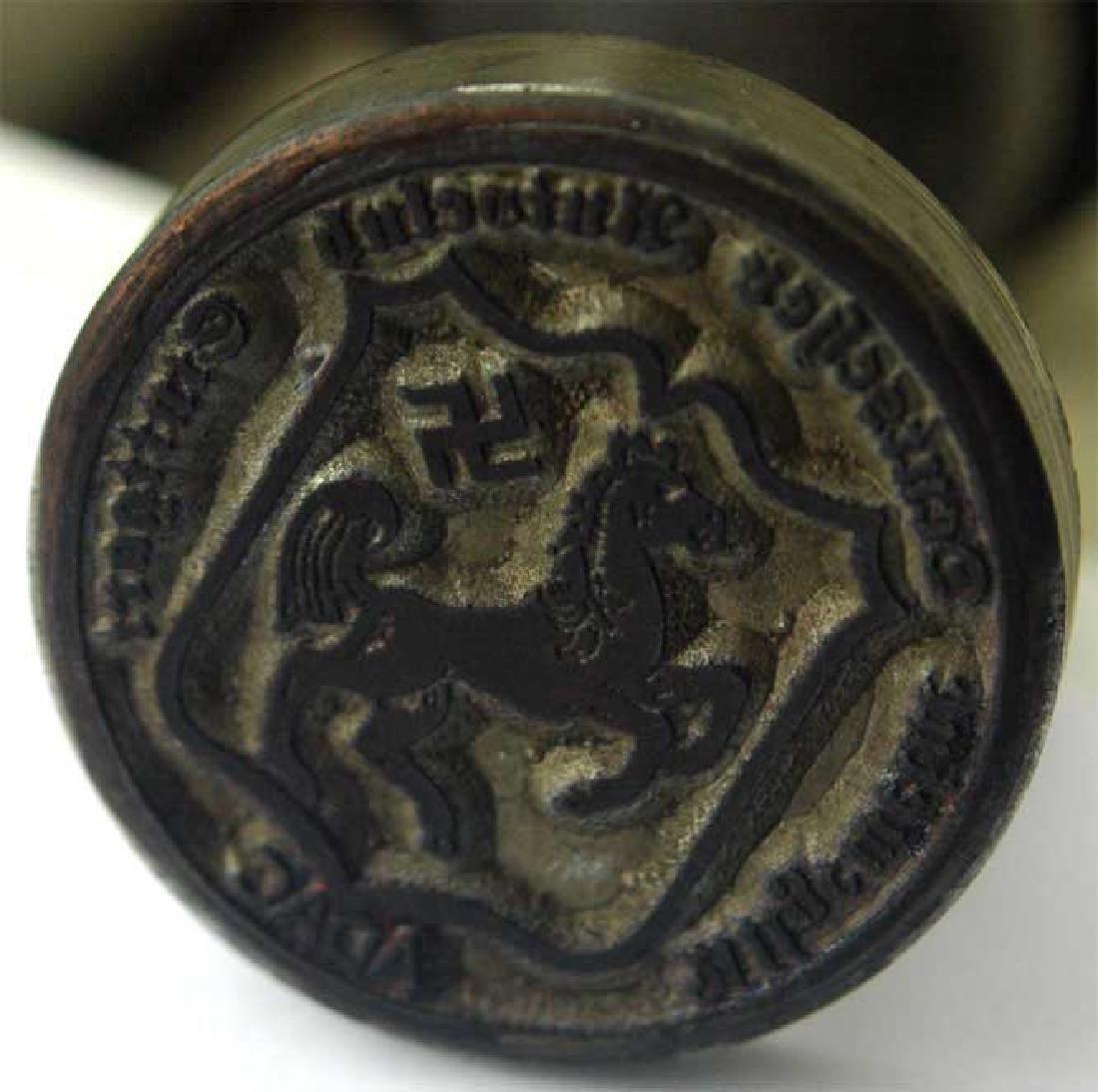 German WW2 ADAC Stuttgart WINNER Ink Stamp - 3