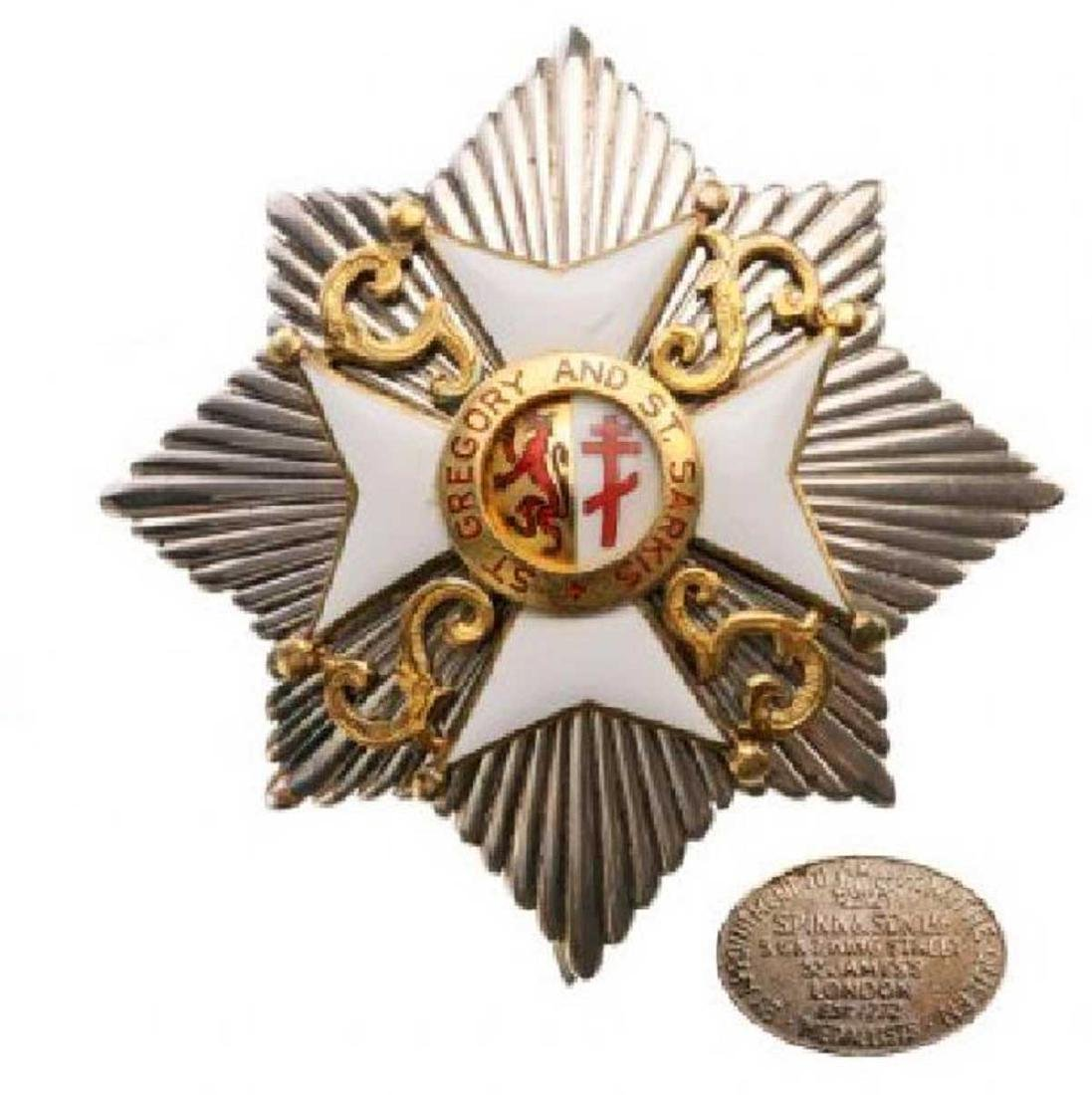 ST. GREGORY AND ST. SARKIS ORDER, Grand Cross Set, 1st - 4