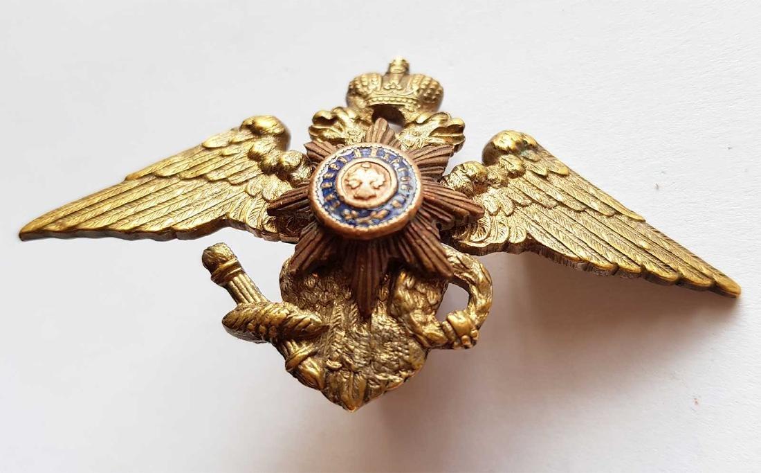Russian Imperial Badge Nikolaev Cavalry School, 1916 - 4