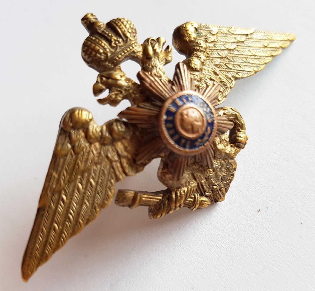 Russian Imperial Badge Nikolaev Cavalry School, 1916 - 5