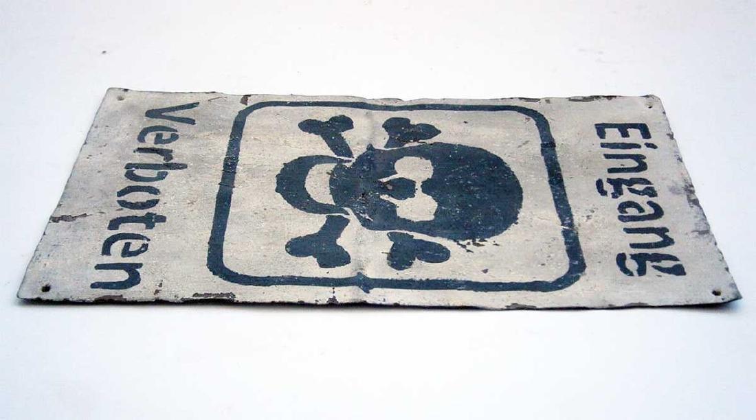 Original German WW2 Sign EINGANG VERBOTEN - 3