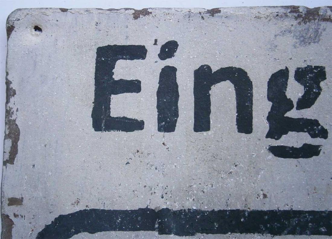 Original German WW2 Sign EINGANG VERBOTEN - 7