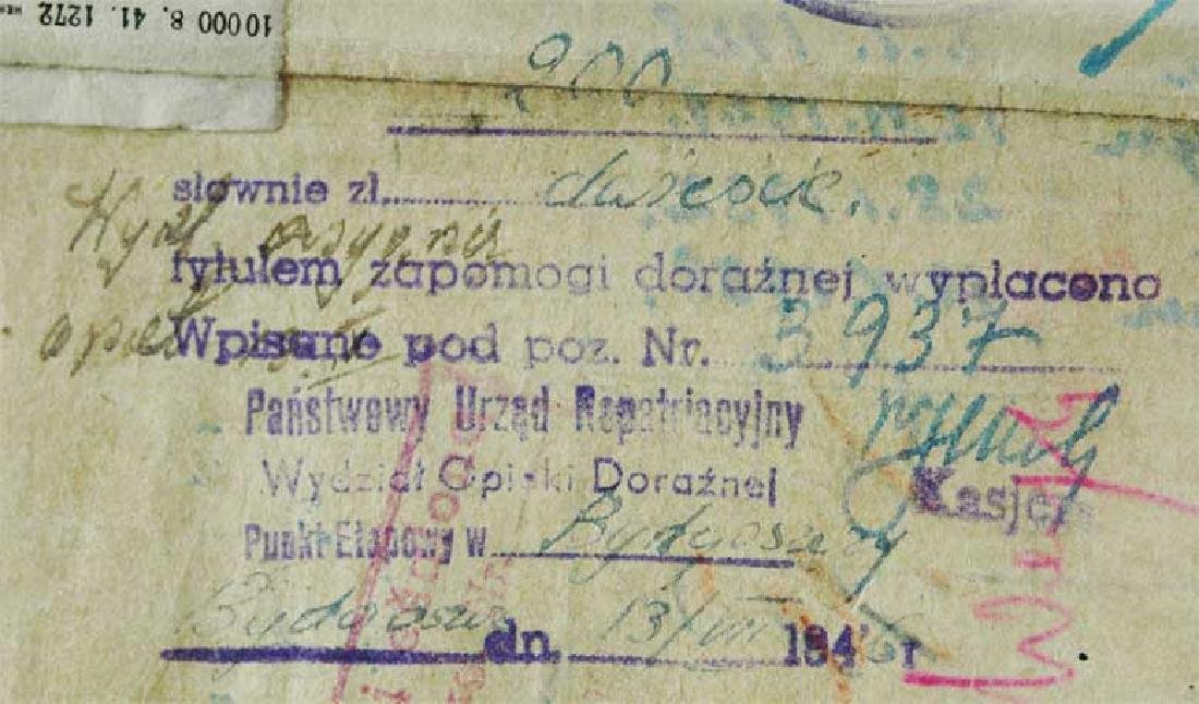 Extremely Rare Polish WW2 Document Evacuation, 1945 - 6
