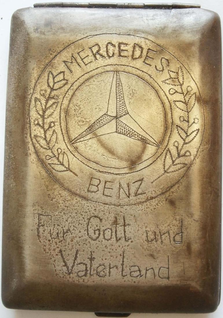 German WW2 Cigarette Case w. Mercedes Benz Logo