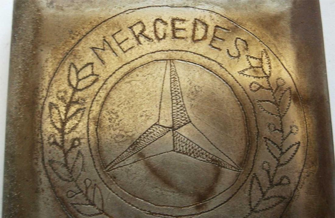 German WW2 Cigarette Case w. Mercedes Benz Logo - 5