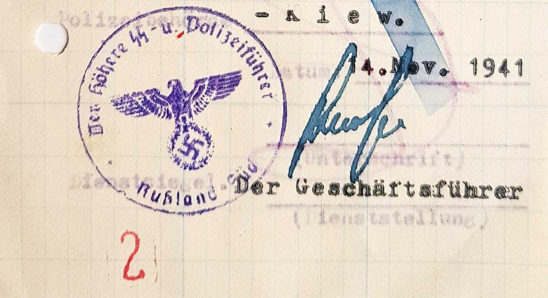 German WW2 Permission for Ukrainian Worker, 1941 - 4