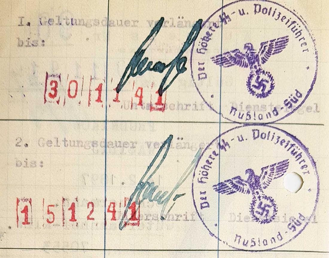 German WW2 Permission for Ukrainian Worker, 1941 - 6