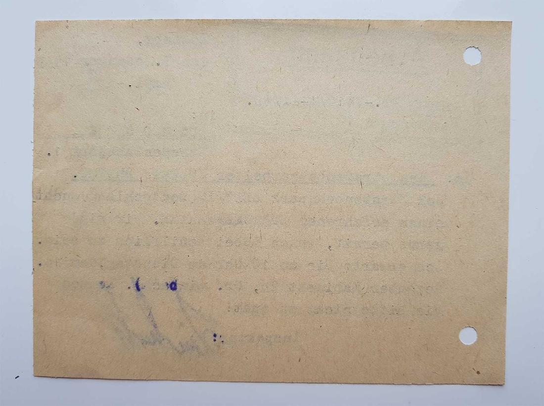 German WW2 Order for Ukrainian Worker, 1943 - 5