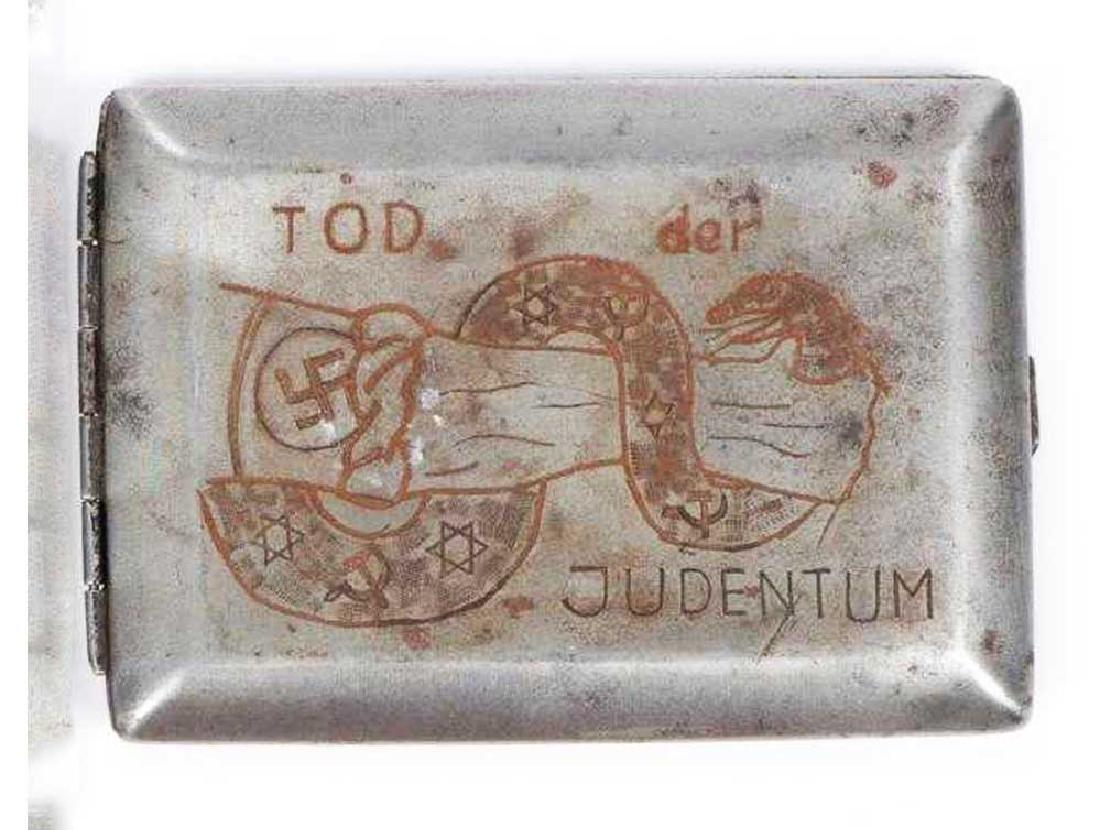 German WW2 Anti-Semitic Cigarette Case, 1941