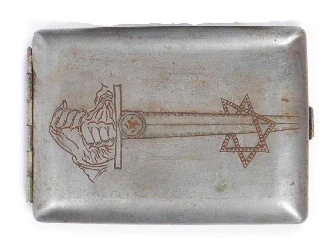 German WW2 Anti-Semitic Cigarette Case